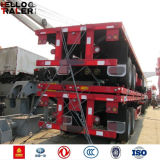 Aanhangwagen van het Bed van China 40FT de Vlakke voor Verkoop aan Afrika