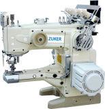 Zuker alimenta para arriba a brazo la máquina de coser del hilo de rosca del dispositivo de seguridad automático del corte la impulsión directa (ZK-1500-156D)
