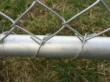 공장에서 롤에 있는 2.4meter 고도 다이아몬드 금속 담/체인 연결 담