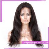 Pelucas malasias del pelo rizado de la Virgen llena del cordón de Glueless