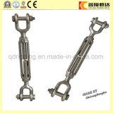 Torniquete del acero inoxidable DIN1480 del hardware del aparejo con el gancho de leva doble