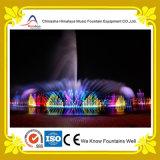 Квадратная сухая конструкция фонтана нот с светильниками СИД
