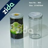 Garrafas de plástico redondas Lata de vedação plástica de plástico pode
