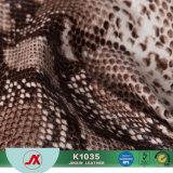 ワニのハンドバッグ革およびソファーの革のための2017匹のヘビののどPVC革材料