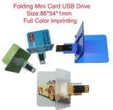 카드 모양 USB 섬광 드라이브, 혁신적인 디자인을 접히십시오
