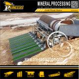Alluviale Goldsand-Erz-Waschmaschine-Trommel und Schleuse-Pflanze
