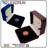Пластичная коробка пакета вставки ЕВА бархата коробки наличных дег коробки подарка Cufflink коробки собрания монетки деревянная (G7)