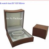 El rectángulo de empaquetado de la joyería de cuero del OEM con crea para requisitos particulares