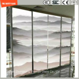 3-19mm Digital Paint / Silkscreen Print / Ácido Etch / Frosted / Padrão Flat / Bent Tempered / Toughened Glass for Wall / Floor / Partition / Home, Hotel com SGCC / Ce & CCC & ISO