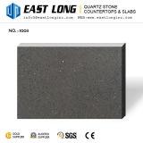 Pedra artificial cinzenta quente de quartzo da partícula fina da venda para a parede Panael/bancadas