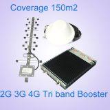 サポート2g 3G 4G Lte移動式ネットワークブスター900 1800 2600のシグナルの中継器三バンドシグナルのブスター