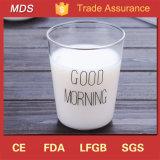 Taza japonesa del vidrio de la taza/desayuno de la leche del Borosilicate de encargo del estilo