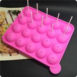 Прессформа ручки торта шипучки подноса 20 силиконов, Lollipop, вокруг мембраны льда