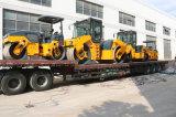 Nueva maquinaria doble hidráulica llena de la construcción de carreteras del tambor de China 4.5 toneladas
