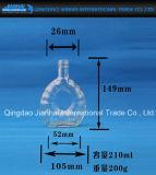 frasco 100ml, 200ml de vidro caraterístico de venda quente transparente para o conhaque e Xo