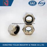 Type actuel du couple DIN985 noix d'hexagone légèrement avec l'acier inoxydable de garniture intérieure non métallique