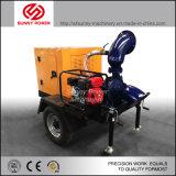 De diesel Pompen Met motor van het Water voor Irrigatie met Aanhangwagen