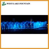Grande fonte colorida musical da dança em um parque temático