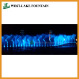 De grote Muzikale Kleurrijke Dansende Fontein van de Verlichting in het Park van het Thema