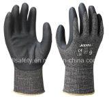 Anti-Couper le gant de travail avec la fibre en acier (ND8097)