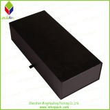 Papel de lujo Embalaje Caja plegable Negro