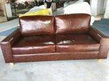 Sofa en cuir moderne de type du nord de l'Europe (8053)