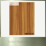Soulever la feuille enduite par couleur en bois décorative d'acier inoxydable de PVC des graines de cabine