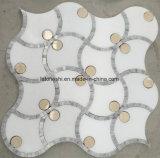 300X300 Waterjet van de steen het Glas Gemengde Marmeren Mozaïek van het Medaillon voor de Vloer van de Muur