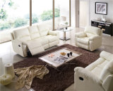 Sofa de salle de séjour avec le sofa moderne de cuir véritable réglé (896)