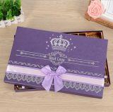 Neue Art-purpurroter Papierschokoladen-Geschenk-Kasten, Schokoladen-verpackenkasten