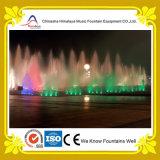 Fuente de la música del agua del baile con el cambio de luces del RGB