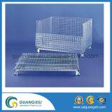 Kooi van de Vlinder van het Staal van de Container van de Opslag van de Pallet van het Netwerk van de draad de Stapelbare