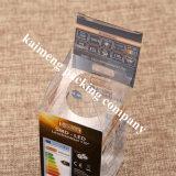 Rectángulo móvil plástico vendedor caliente Keychain del animal doméstico claro plegable 2017