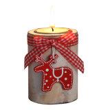 De houten Houder van de Kaars voor de Natuurlijke Kleur van de Decoratie van Kerstmis in Voorraad