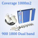 repetidor duplo do sinal da DCS 900/1800MHz G/M da G/M do repetidor da faixa do impulsionador móvel do sinal 27dBm