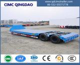 Eixo Cimc 3 60 toneladas reboque da base da máquina escavadora do transporte de baixo