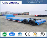 Cimc 3車軸低いベッドのトレーラー60トンの輸送の掘削機の