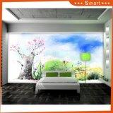Rosafarbene Blumen-Wandtapeten-/Ölgemälde-Wohnzimmer-kundenspezifischer Wand-Dekor-Aufkleber