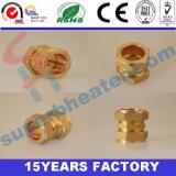 Instalaciones de tuberías de cobre amarillo, conector de cobre
