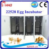 Grand incubateur complètement automatique d'oeuf de caille de volaille pour 20000 oeufs