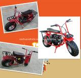 Mini moto de saleté de scooter de vélo de gaz freins à tambour de 196 cc 32 M/H avec EPA et ce