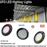 Fabriek/Pakhuis die 60 90 120 LEIDENE van de Vorm van het UFO van de Graad 300W Lichte Hoge Baai aansteken