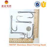 Crochet de thon à pêche à la fourche en acier inoxydable couleur argenté 7897