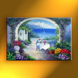 Canvas 2014년 New에 아름다운 Mediterranean Sea Scene Oil Painting Wall Art