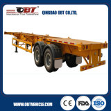 Doppio Axle 35 Tons Loading Capacity 40FT Container Skeleton Trailer