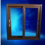 double guichet en aluminium glacé de 5mm+9A+5mm, guichet en aluminium en verre de transfert de double en bois d'impression