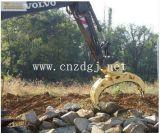 Das Exkavator-hydraulische Rotieren halten hölzerner Exkavator-rotierendes Zupacken festhalten Stein fest