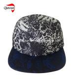 濃紺の革縁の方法5パネルの余暇の帽子