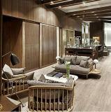 (SD-6005-2) Moderne Hotel-Wohnzimmer-Freizeit-hölzernes Gewebe-Sofa-Set