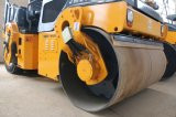Nuevo producto de Junma rodillo vibratorio ensamblado hidráulico lleno del neumático de 6 toneladas (JM206H)
